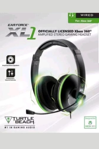 Turtle Beach Headset Xbox 360 XL1 Gaming Headset Ear Force Amplified Stereo NEW