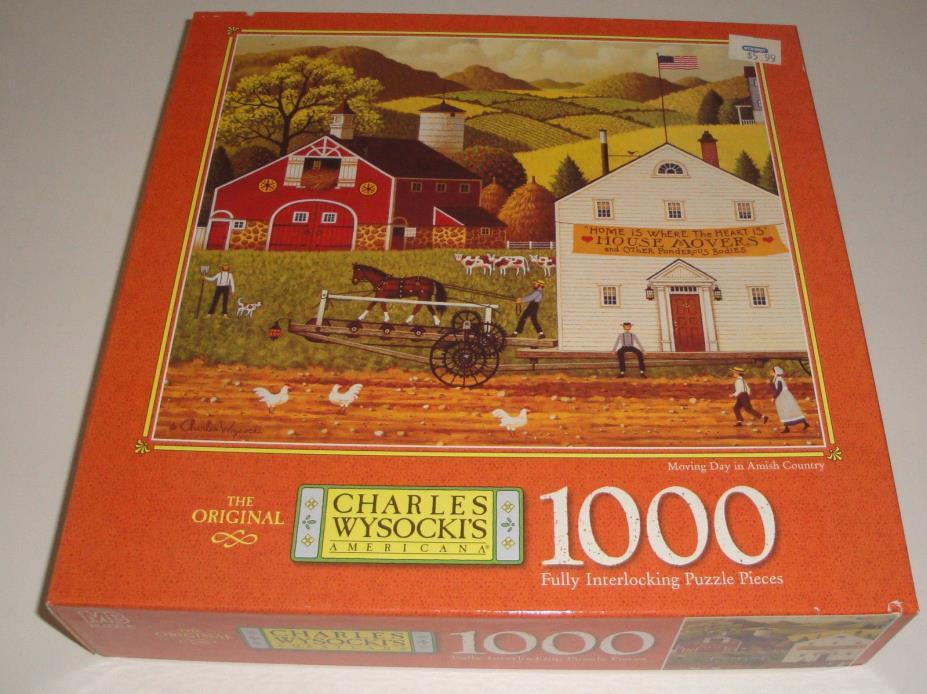 CHARLES WYSOCKI - 1000 PIECE PUZZLE - SLEEPY FOX FARMS #4679-6 - NEW SEALED