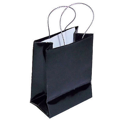 12 (1 dozen) Mini Black Gift Bag