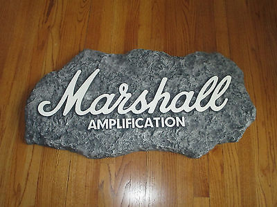 MARSHALL GUITAR AMP STORE DISPLAY SIGN - THE SOUND OF ROCK!