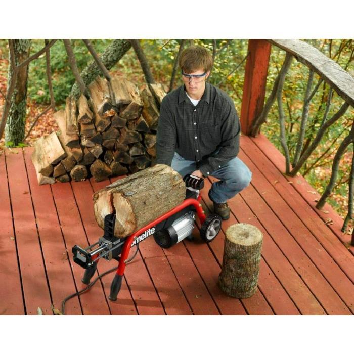 5-Ton Portable Electric Log Splitter Cut Wood-burning Stove Fireplace Split Wood