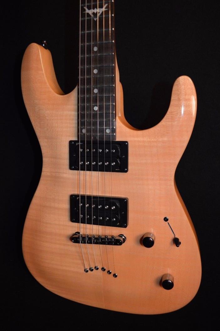 Dean C350 Custom 350 Flame Top Gloss Natural Electric Guitar -Free Shipping!