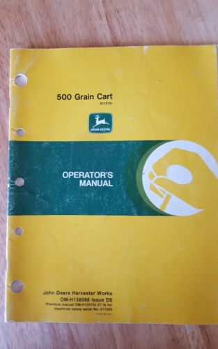 Jd 500 grain cart operators manual