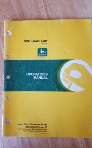Jd 500 grain cart operators manual