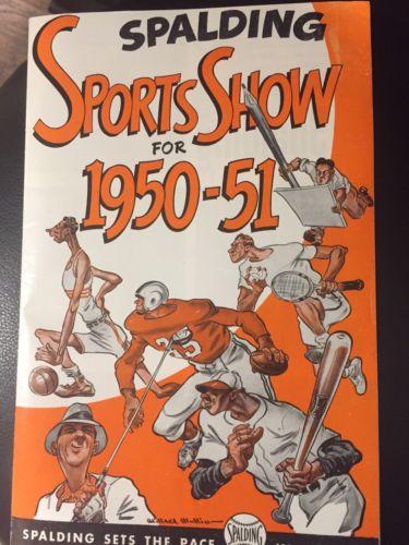 1950 Spalding Sports Show Magazine Ohio State's Chic Harley/Yogi Berra