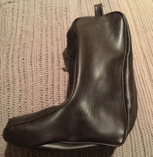 Leather Boot Carry Storage Bag Cowboy Boots Brown
