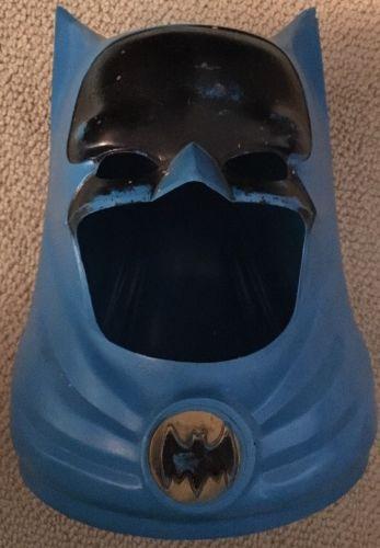 Vintage 1966 Ideal Toys Batman Plastic Mask Cowl Helmet Costume