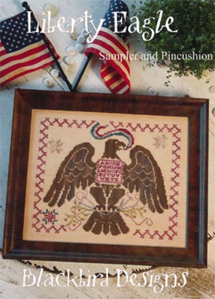 Blackbird Designs Counted Cross St. Chart       Liberty Eagle