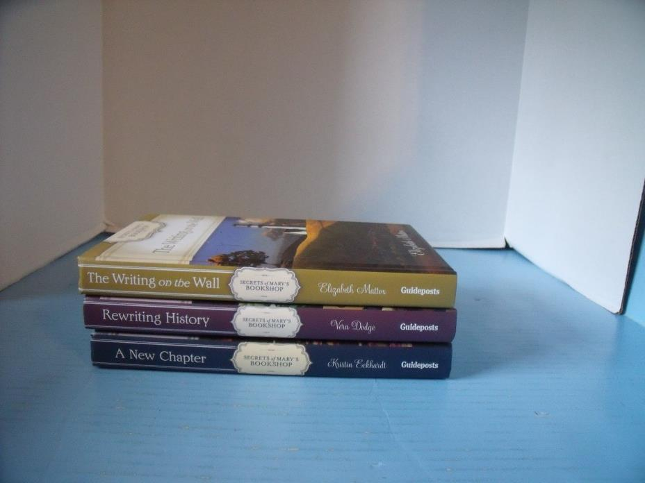 LOT OF 3 GUIDEPOSTS SECRETS OF MARY'S BOOKSHOP*REWRITING HISTORY*A NEW CHAPTER..