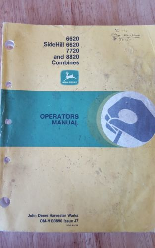 JD 6620, 6620 sidehill, 7720, and 8820 combine operators manual
