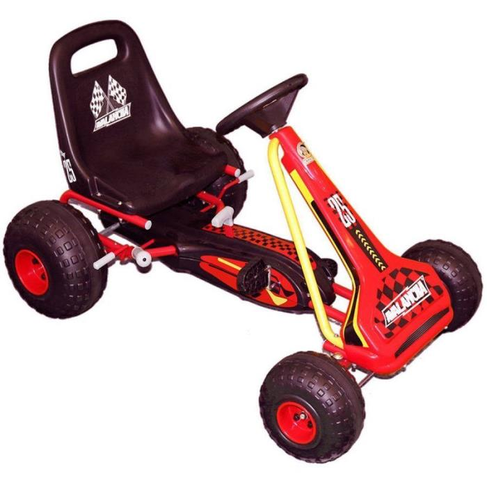 Go Cart For Kids Ride On Pedal Car  Boys Toy Heavy Duty Over Sized Tires Steel