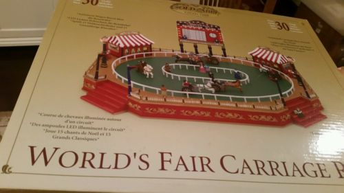 In The Box Mr Christmas Gold Label Collection World's Fair Carriage Race Works