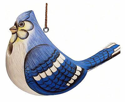 BIRD HOUSES - BRILLIANT BLUE JAY BIRD HOUSE - BIRDHOUSE - GARDEN DECOR - OUTDOOR
