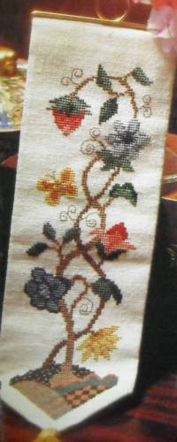 Jacobean Bell Pull Counted Cross Stitch Magazine Pattern FM14