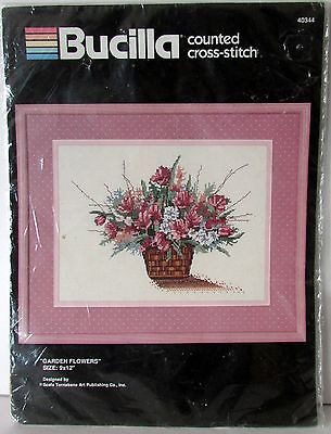 Bucilla counted cross stitch #40344 Garden Flowers