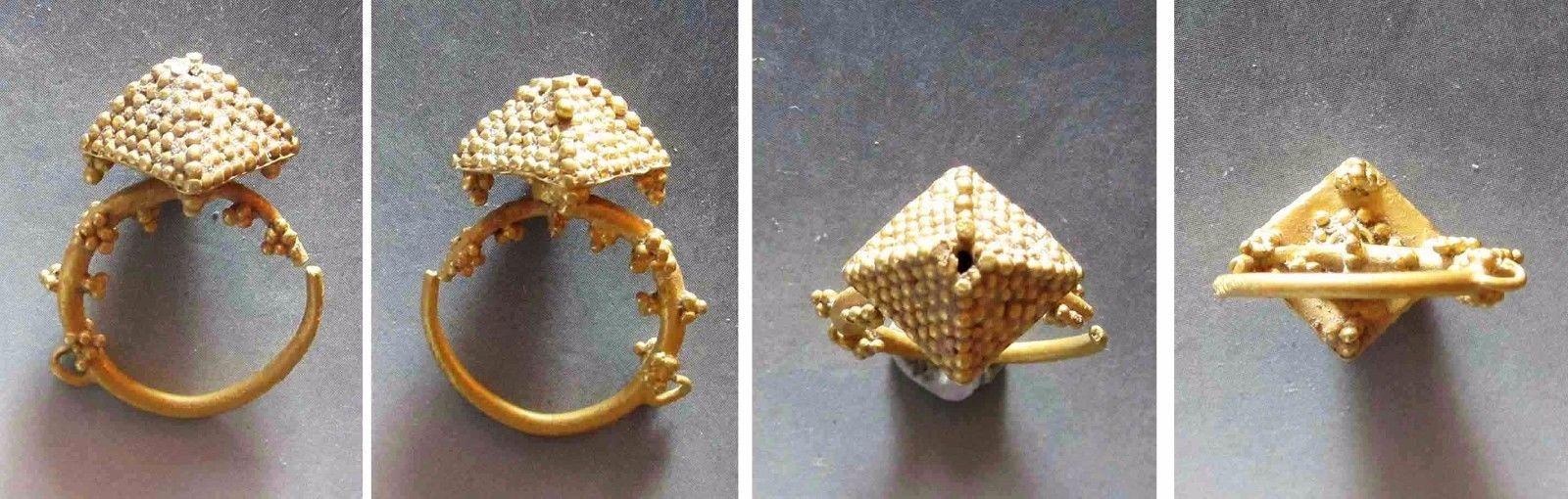 AA48. Authentic ancient gold nose-ring from Khwarizm.