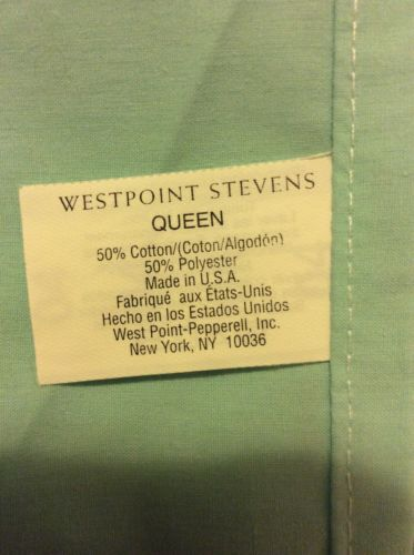 QUEEN Sheet Set, Light Teal Green, By West Point Stevens