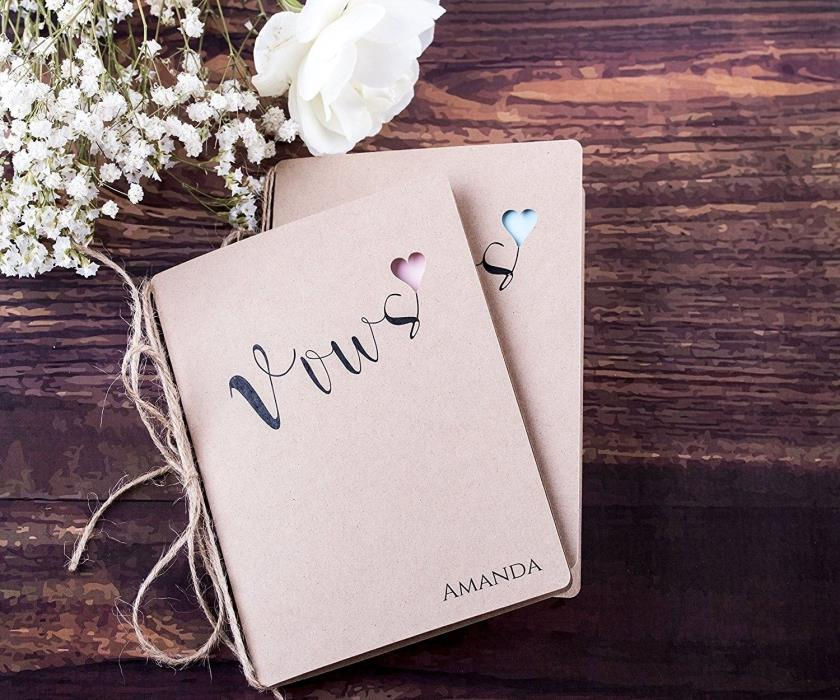 Custom Wedding Vow Books Rustic Wedding Vow Booklets. Her Vows His Vows