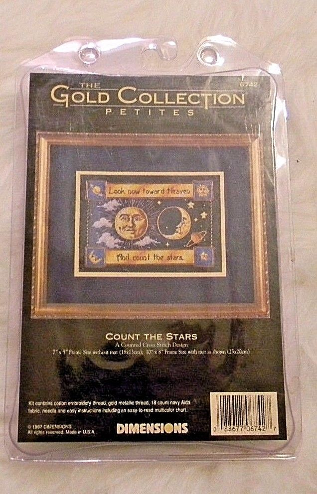 The Gold Collection Petites Cross Stitch Kit COUNT THE STARS Dimensions 6742