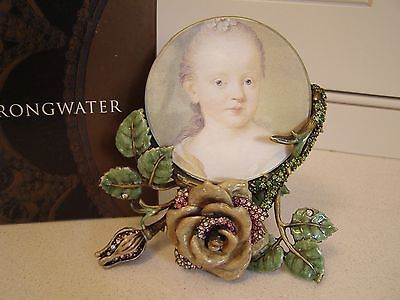 Jay Strongwater Picture Frame with Flowers, New in box
