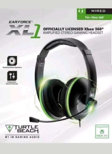 Turtle Beach Headset Xbox 360 XL1 Gaming Headset Ear Force Amplified Stereo Open