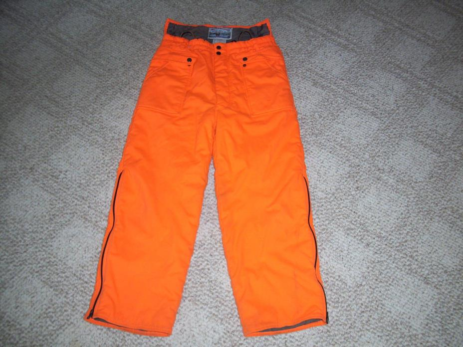 FIELD & STREAM ORANGE INSULATED HUNTING PANTS SIZE M