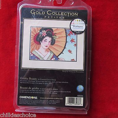 Dimensions Gold Collection Petite Geisha Beauty #65036 Counted Cross Stitch Kit