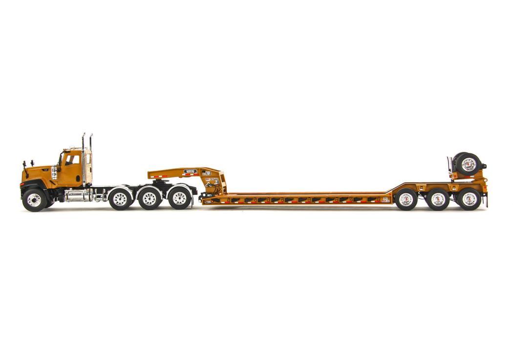 Cat CT680 8x4 Truck w/ Rogers 4 Axle Lowboy Trailer -