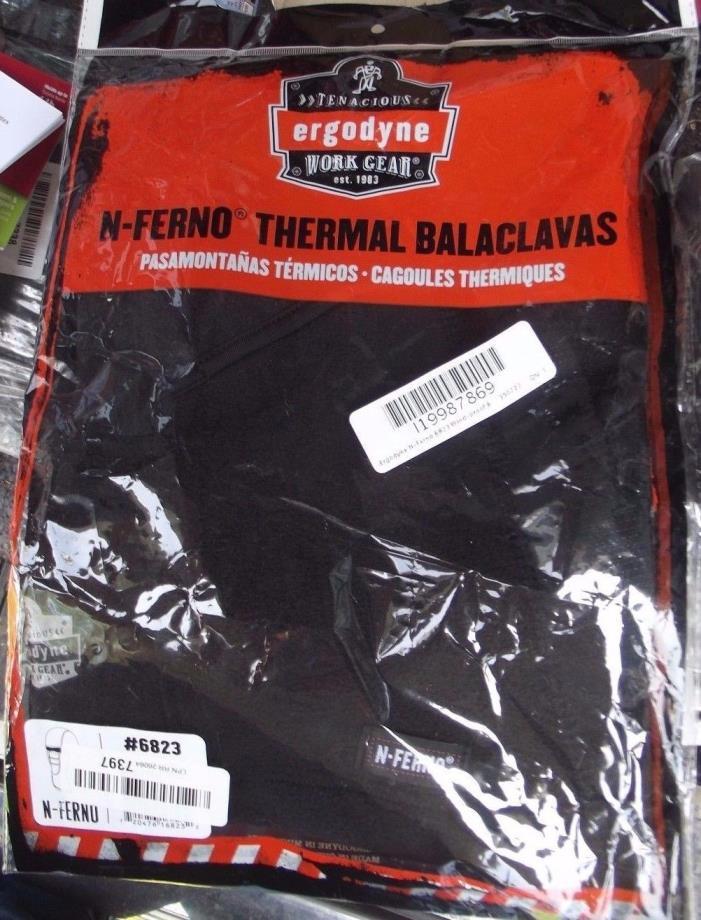 Ergodyne N-Ferno 6823 Wind-proof Hinged Balaclava, Black 1 Pack BRAND NEW