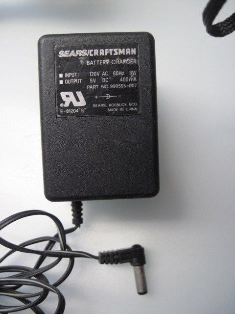 9V AC Adapter For Sears Craftsman Battery Charger 999555-007 DC Power Supply