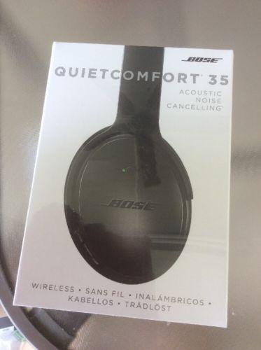 Bose QuietComfort 35 Black Headband Headsets Headphones BRAND NEW SEALED
