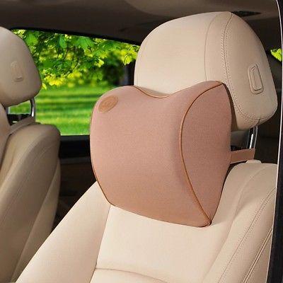Choco Brown Memory foam Car Seat Head Neck Waist Rest Support Pillow Fit Honda