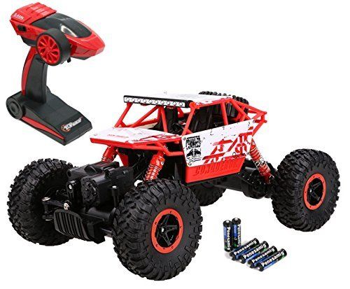 NEW Top Race Remote Control ROCK CRAWLER RC Monster Truck Off Road 4WD 2.4Ghz
