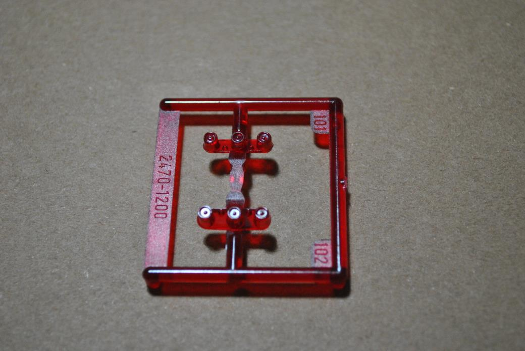 REVELL 1/25 1965 CHEVY IMPALA TRANSLUCENT RED TAIL LIGHTS - 2 TOTAL PARTS!