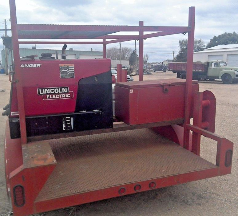 LINCOLN-225 Ranger WELDER ON TRAILER only 54 total hours used