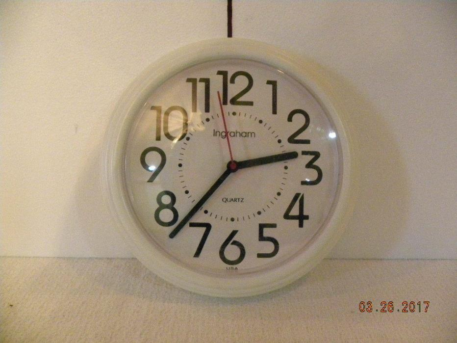 Ingraham Wall Clock Battery Operated