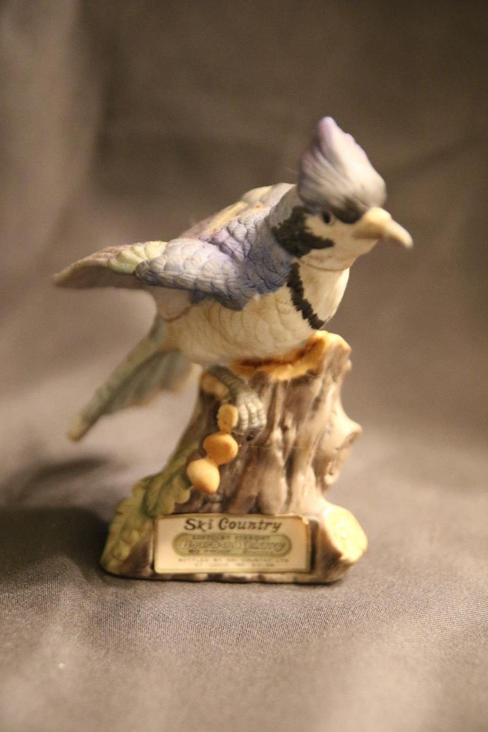 Ski Country Decanter Blue Jay