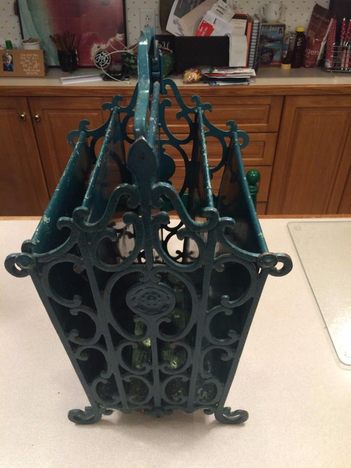 Victorian Solid Metal Music / Magazine Rack / Holder