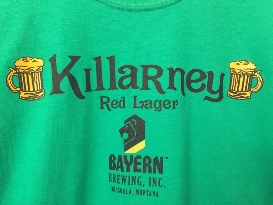 Killarney Bayern Brewing Missoula Montana Men's T-Shirt XL NWOT