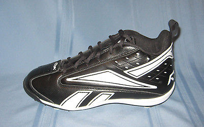 VGUC-NFL Reebok Black And White Football Cleats Men's Size 10.5