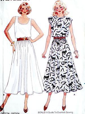 FAB EASY VTG TANK TOP DRESS, OR CAP SLEEVES Misses Sewing Pattern 5582 12 14 16