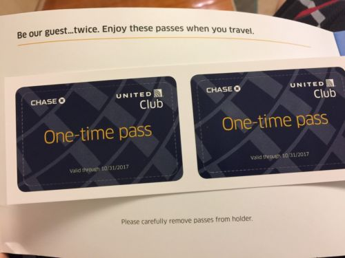 united club one-time pass