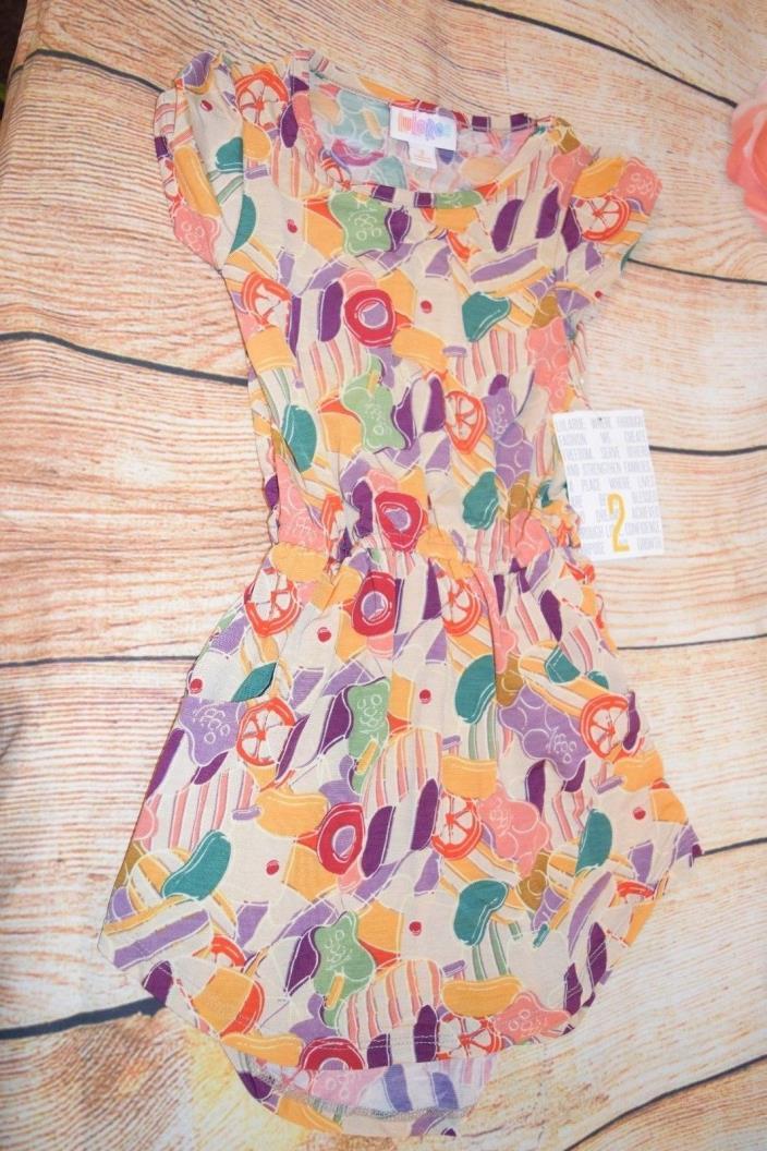 NWT - LuLaRoe Print Mae Dress - Size 2 GUMMY BEAR CANDY