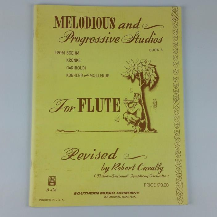 Melodious and Progressive Studies for Flute Book 3 from Boehm Kronke G UNMARKED