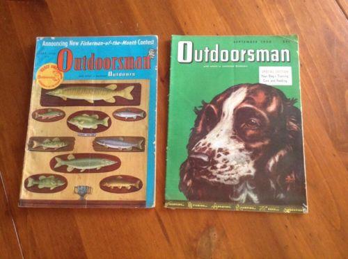 2 Vintage Outdoorsman Magazines June 1950/September 1950 Hunting/Fishing