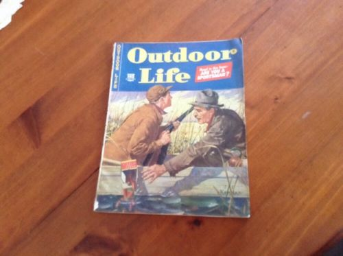 Outdoor Life Magazine January 1944 Duck Hunting Cover/Fishing