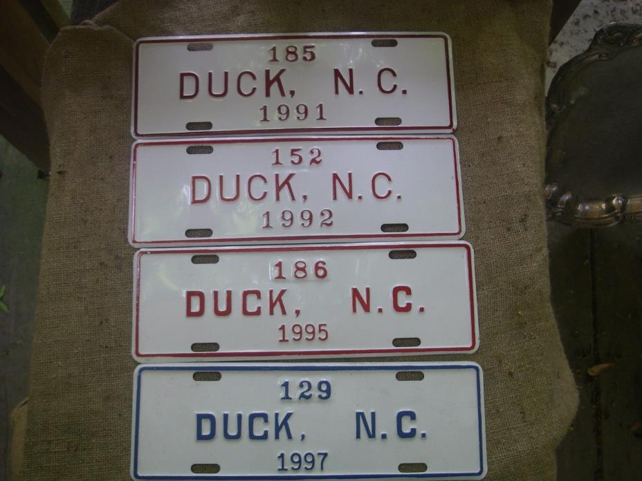 4 License Add Ons Fishing Beach Car Permit North Carolina Personalized Duck