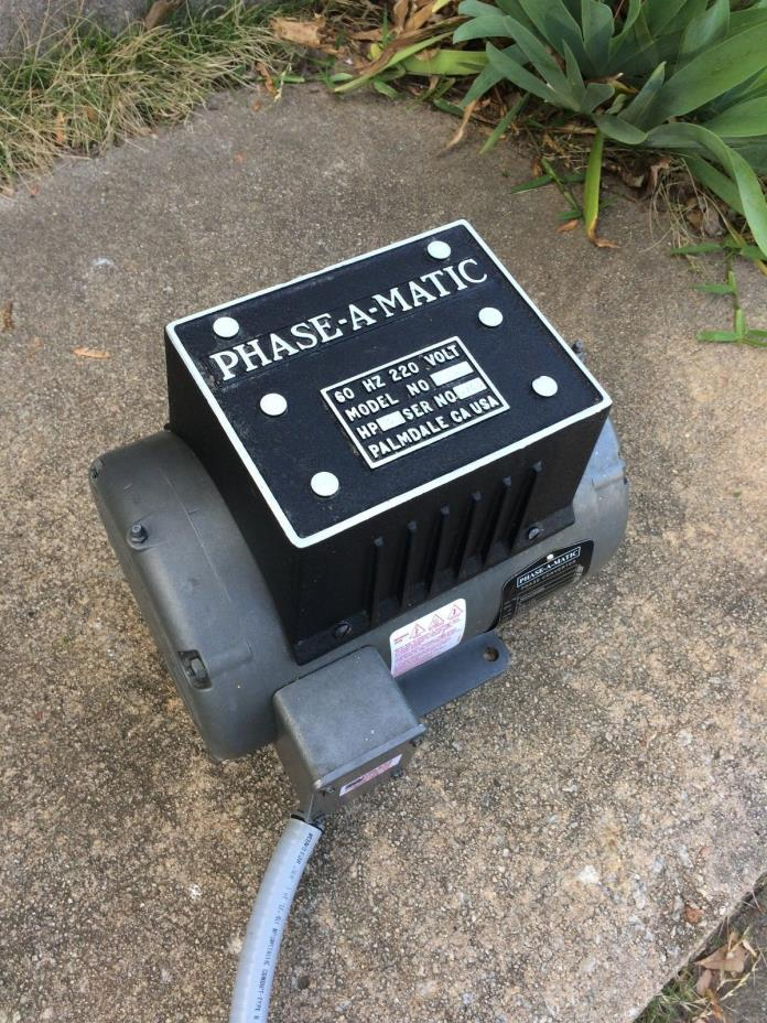 Phase-A-Matic R-5 Rotary Phase Converter