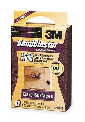 3M 20908-80 80 Grit SandBlasterTM Bare Surface Sanding Sponge Block