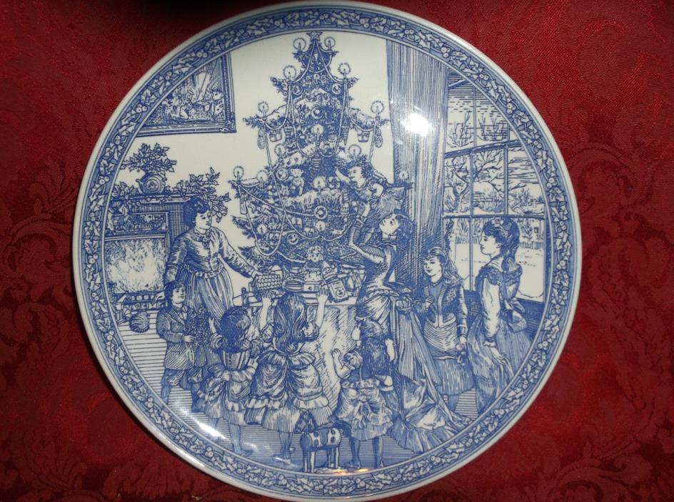 THE SPODE BLUE ROOM COLLECTION CHRISTMAS PLATE